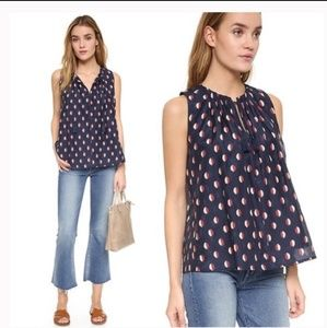 Madewell Bellshift Tank Top Ikat Dot